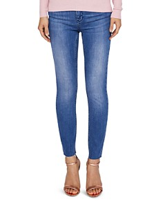 Ted Baker - Aaciee Raw-Hem Skinny Jeans in Mid Wash
