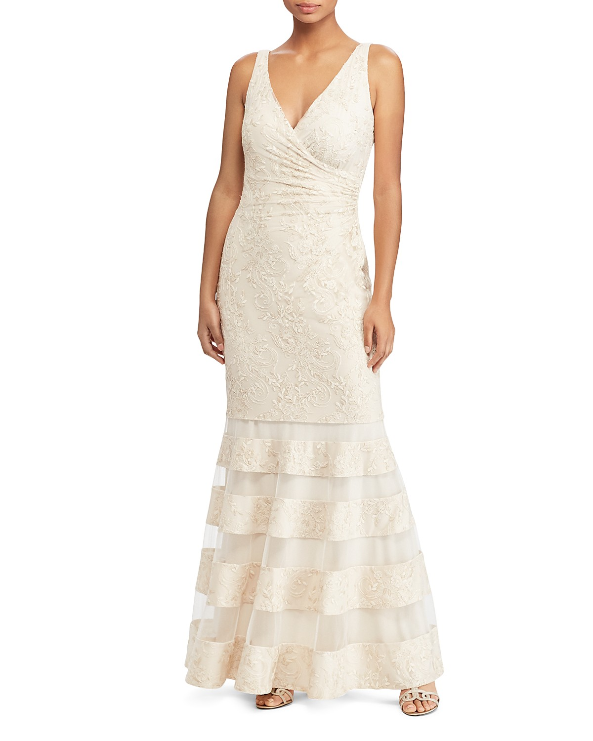 Lauren Ralph Lauren Lace Mermaid Gown - 100% Exclusive | Bloomingdale\'s