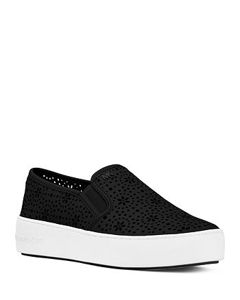 bc28aec4f672 MICHAEL Michael Kors - Women's Trent Perforated Leather Slip-On Sneakers