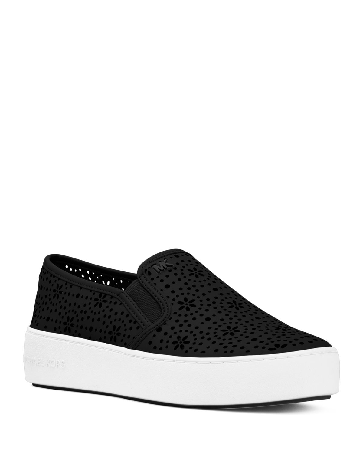 perforated wedge heel sneakers - Black Michael Kors