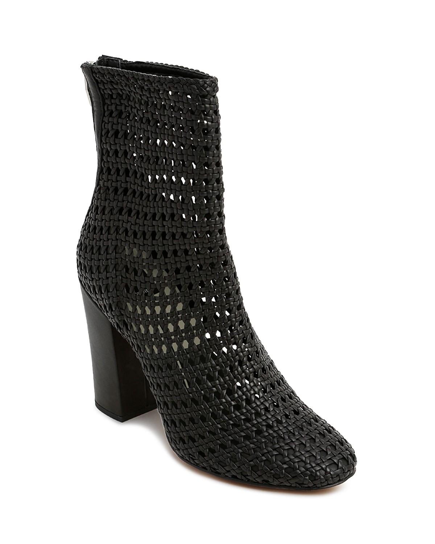 Dolce Vita Women's Woven Leather Block Heel Booties HK95tpJp