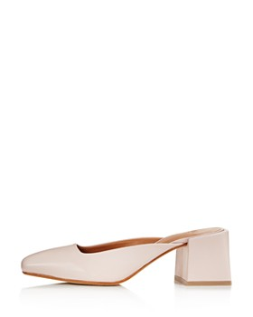 LoQ - Women's Leather Square Heel Mules