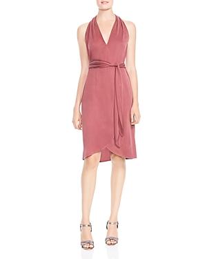 Halston Heritage Knit Faux-Wrap Dress