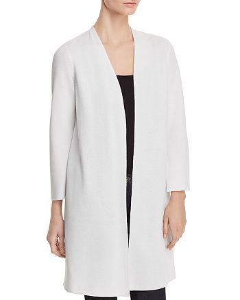 Eileen Fisher - Waffle-Knit Open-Front Cardigan