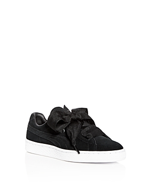 Puma Girls' Heart Suede Lace Up Sneakers - Big Kid