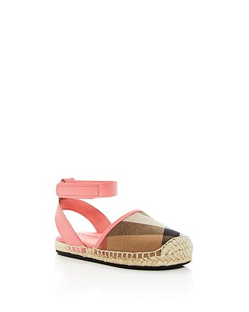 25f22c56a0f Burberry Girls  New Perth Ankle Strap Espadrille Sandals - Walker ...