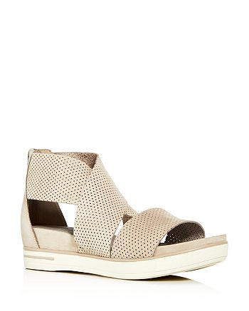 f4ab4aecc68 Eileen Fisher - Womens  Sport Perforated Nubuck Leather Platform Sandals