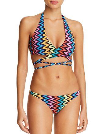 9d2dd979d5b2a MILLY Wrap Front Halter Bikini Top   St. Lucia Bikini Bottom ...