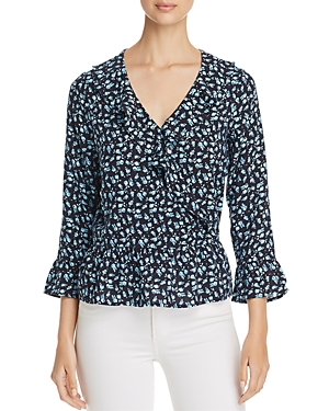 Alison Andrews Ruffle-Trim Floral-Print Top
