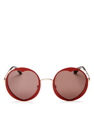 Women's Rosaria Round Heart Sunglasses, 53mm by Kate Spade New York