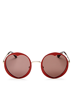 kate spade new york Rosaria Round Heart Sunglasses, 53mm