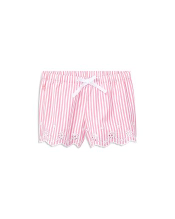 Ralph Lauren - Girls' Bengal-Striped Eyelet Shorts - Little Kid