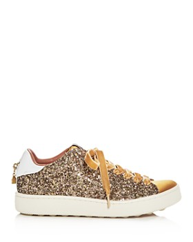 COACH - Women's C121 Glitter Lace Up Sneakers