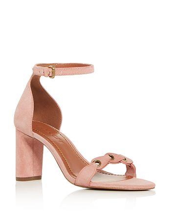 ba3a6dd28351 COACH - Women s Ankle Strap Block Heel Sandals