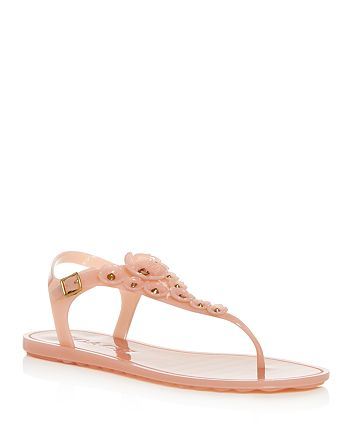 4d5647b43 COACH - Women s Tea Rose Multi Jelly Thong Sandals