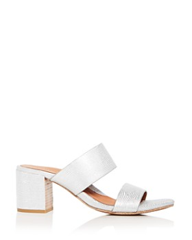 Gentle Souls by Kenneth Cole - Women's Cherie Snake Embossed Leather Block Heel Slide Sandals - 100% Exclusive