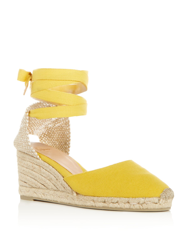 Castaner Women's Carina Ankle Tie Espadrille Wedge Sandals