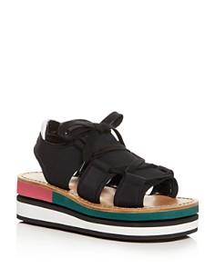 Marni - Color-Block Platform Wedge Sandals