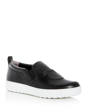 Salvatore Ferragamo Women's Leather Slip-On Sneakers