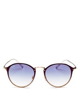 Ray-Ban - Unisex Mirrored Rimless Round Sunglasses, 59mm
