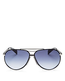 rag & bone - Men's Runway Vintage Brow Bar Aviator Sunglasses, 63mm