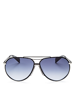 rag & bone Men\\\'s Runway Vintage Brow Bar Aviator Sunglasses, 63mm