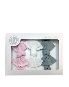 Baby Bling - Infant Girls' Bow Headbands, Set of 3 - 100% Exclusive