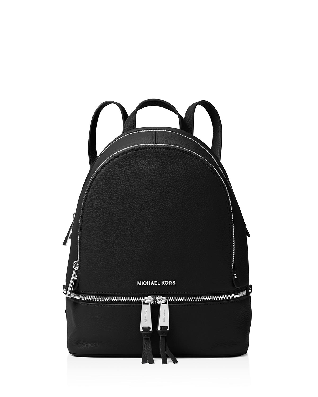 3a4eb7ce4a34 Michael Kors Rhea Zip Um Leather Backpack Bloomingdale S