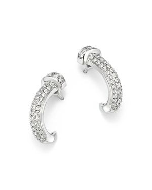 Bloomingdale's Pave Diamond Curved Nail Earrings in 14K White Gold, 0.60 ct. t.w- 100% Exclusive
