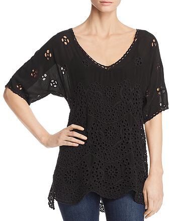 Johnny Was - Eyelet Top