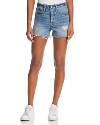 $Levi's Wedgie Denim Shorts in Blue Your Mind - Bloomingdale's