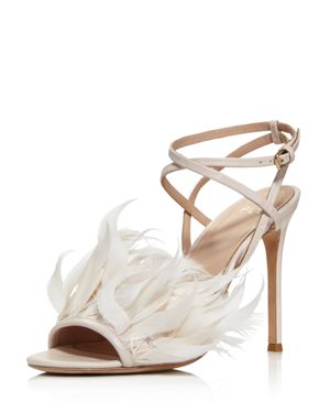 Pour La Victoire Women's Elexi Feather Embellished High-Heel Sandals