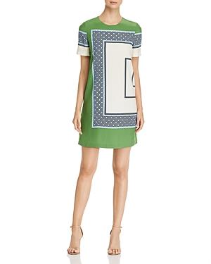 Tory Burch Mallory Silk Color-Block Dress