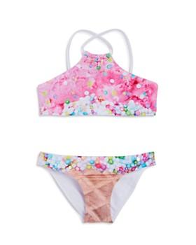 PilyQ - Girls' Embellished 2-Piece Ice Cream Swimsuit - Little Kid, Big Kid