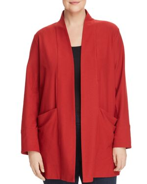 Eileen Fisher Plus Relaxed Open-Front Jacket