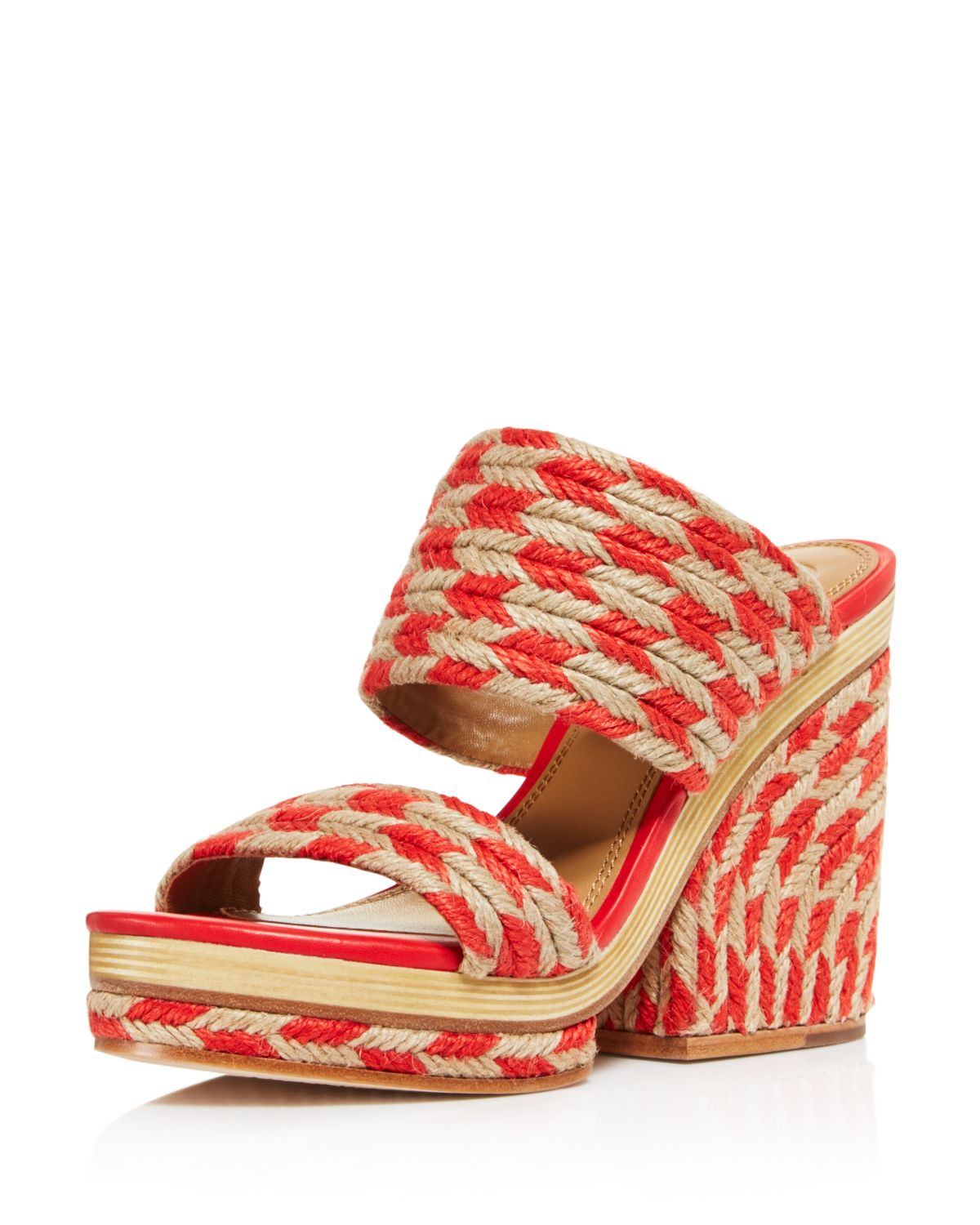 Tory Burch Women's Lola Woven Jute & Leather High-Heel Slide Sandals