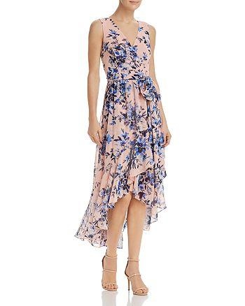 Eliza J - Floral Faux-Wrap Dress