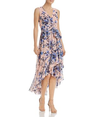 Eliza J Floral Faux-Wrap Dress 2869354