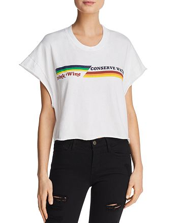 Project Social T - Conserve Water Cropped Graphic Tee