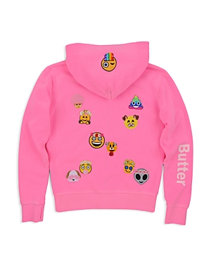 Butter Girls' Snapchat Emoji Patch Hoodie - Big Kid