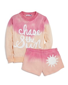 Play Six Girls' Chase the Sun Dip-Dyed Sweatshirt & Shorts - Little Kid - Bloomingdale's_0