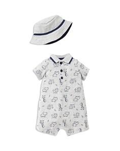 Little Me Boys' Safari-Print Romper & Hat - Baby - Bloomingdale's_0