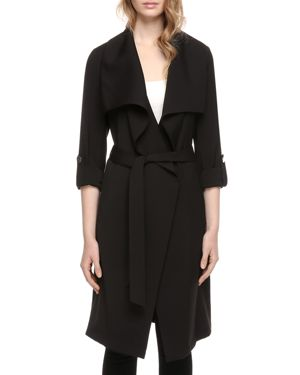 SOIA AND KYO Ornella Trench Coat in Black