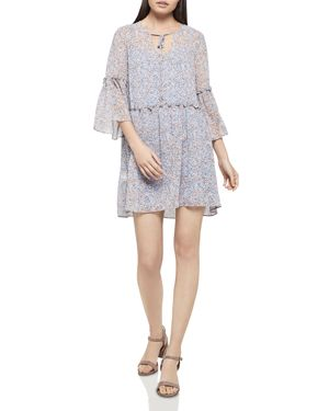 BCBGeneration Floral Print Drop-Waist Dress