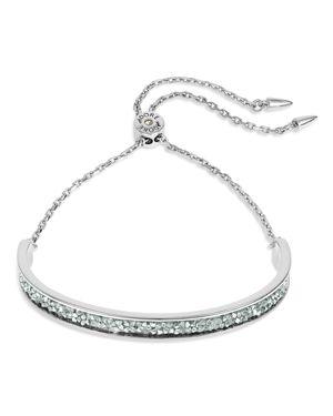 ADORE Ultrafine Rock Crystal Bar Bracelet, Silver