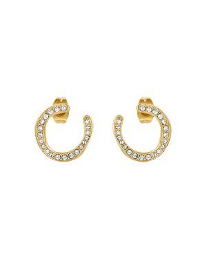 ADORE Organic Circle Hoop Rhinestone Earrings, Gold