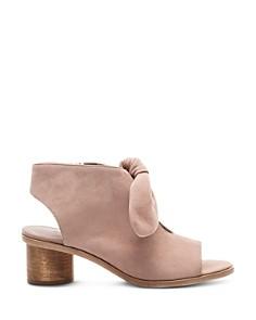 Bernardo - Women's Knotted Suede Peep Toe Sandals