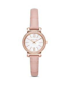 Michael Kors - Sofie Crocodile-Embossed Leather Strap Watch, 26mm