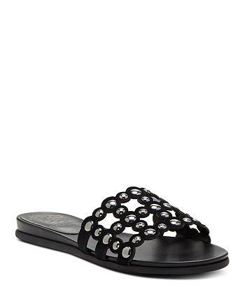 d95ffe039e10 VINCE CAMUTO Women s Ellanna Studded Leather Cage Slide Sandals ...