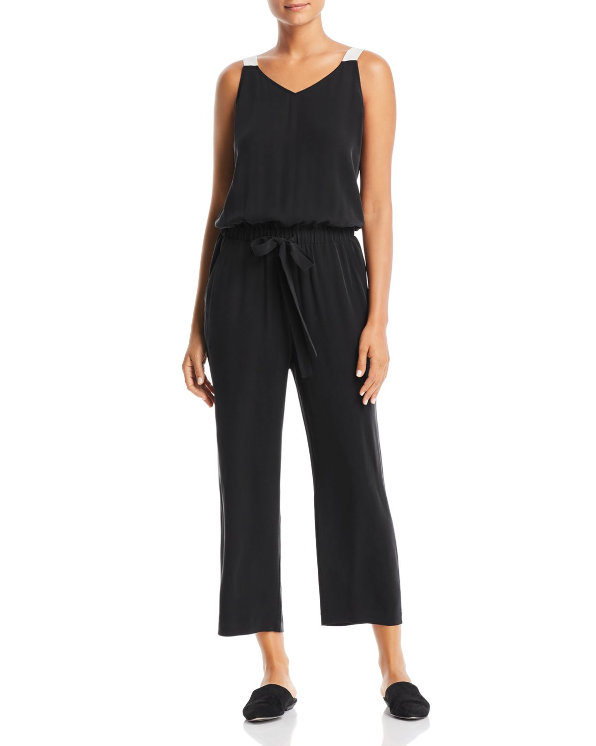 Silk Cropped Jumpsuit   100 Percents Exclusive by Eileen Fisher Petites